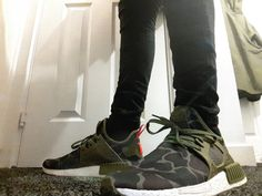 Adidas nmd xr1 primeknit s32217 olive core black footwear white