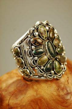 Cuff   Will Denetdale. (Navajo) Sterling silver and Damali Turquoise.