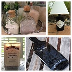 Turn your old wine and liquor bottles into holiday gifts like a lamp or a candle. Check out these #DIY tips.