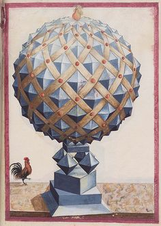 Geometric perspective i - from a rather obscure 16th century anonymous paper manuscript containing sketches of geometric solids. The illustrations have been cropped from the slightly larger full-page layouts.  via peacay