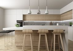 Kitchen lighting requires the careful consideration of two purposes. Ideally, it should illuminate the work surfaces where you conduct most of your preparation,