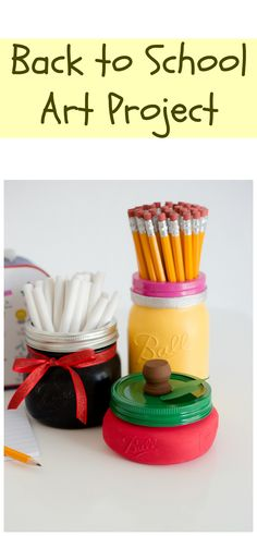 This cute Back to School craft is great for teacher gifts.
