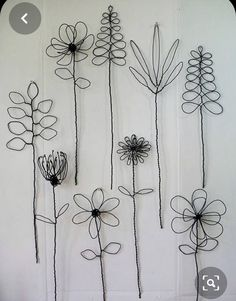 Wall Hanging Wire Flower Arrangement Or Bouquet - -You can find Printmaking and more on our website.Wall Hanging Wire Flower Arrangement O. Wall Hanging Arrangements, Flower Arrangements, Wire Crafts, Diy And Crafts, Arts And Crafts, Wire Art Sculpture, Wire Sculptures, Abstract Sculpture, Diy Fleur