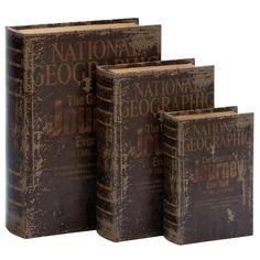 Found it at Wayfair - 3 Piece Wood Book Box Set