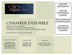 Chamber Ensemble concert this weekend!