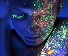 Be the center of attention at the next black light party with this incredible line of black light makeup.