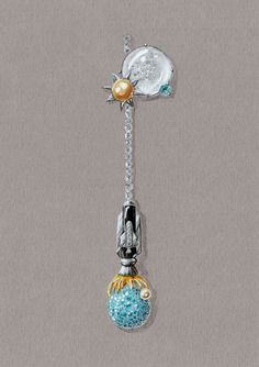 Tony FURION Design Gouache gouaché joaillerie dessin bijou jewellery jewelry rendering