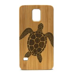 Sea Turtle Galaxy S5 Case. Tribal Tattoo Ocean Sea Hawaiian Honu. Eco-Friendly Bamboo Wood Samsung Cell Phone Cover. Brand New & High Quality & 100% Satisfaction Guaranteed. Custom Made - Designed Specifically to Fit Samsung Galaxy S5. Snap-on design, easy installation.