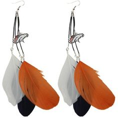 Denver Broncos Fan Feather Earrings
