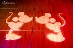 Sweethearts Mickey + Minnie gobo for the dance floor #FirstDance