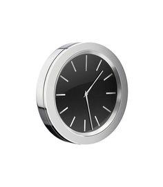 """Smedbo TIME Clock 2 1/2"""" Chrome/Black In Gift Box YK3802 $64.80"""