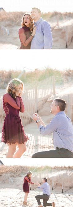 When she looked up, she saw a proposal banner in the sky! It was the cutest surprise ever.