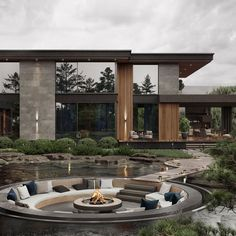Modern House Facades, Modern Architecture House, Modern House Design, Interior Architecture, Luxury Interior, Dream House Interior, Luxury Homes Dream Houses, Dream Homes, Home Room Design