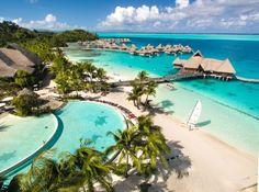 The Conrad Bora Bora Nui Resort Aerial View