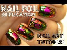 31DC2015 Day 8 Metallic: Nail Foil Fun | Mucking Fusser