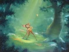 """A New Life"" By Rob Kaz - Original Oil on Canvas, Disney #Bambi #DisneyFineArt #"