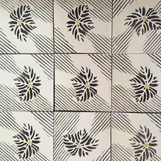 Pattern play. Inspired by vintage Japanese textile this is a truly remarkable design from our Rue des Rosiers collection #tabarkastudio #pattern #interiordesign #wall #floor #carrelage #luxury #decorative #terracotta #inspiration #paris #ruedesrosiers #tile #tileaddiction by tabarkastudio