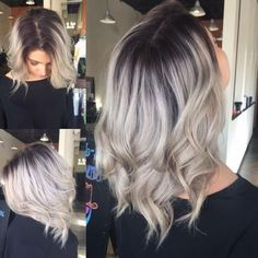 Blonde Hair With Roots, Blonde Hair With Highlights, Balayage Hair Blonde, Brown Blonde Hair, Blonde Wig, Honey Balayage, Balayage Bob, Medium Blonde, Haircolor
