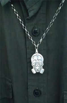 Gas-Mask-Skull-Pendent-Necklace-Custom-Ancient-925-Sterling-Silver-Plated