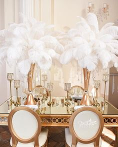 Feathers Are A Great Way To Forgo Flowers And Introduce Little Old Hollywood Glamour