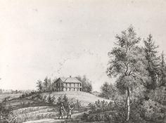 """Het Aardhuis"", ca 1850/1860. Tekening eigendom van R.A.J. Jonker, Mariastraat 44 - Apeldoorn. | Lieman, Arie - Europeana"