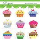 Printable Clip Art Digital PDF PNG File - Cupcake product from Wonderful-Dreamland on TeachersNotebook.com