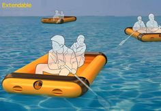Dual-Threat Disaster Devices - Universal Rescue Equipment is Both a Life Raft and Safety Shelter (GALLERY)