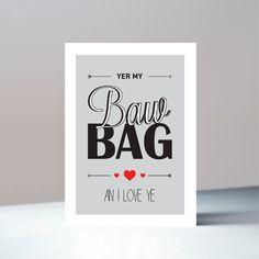 Valentines Greetings, Valentine Greeting Cards, Scottish Greetings, Brown Envelopes, Cello, Glasgow, Scotland, Drop