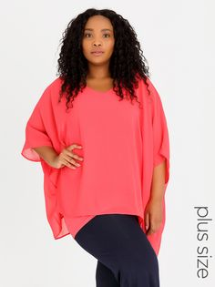 Polkadot Butterfly Top Coral ... NBNB Spree