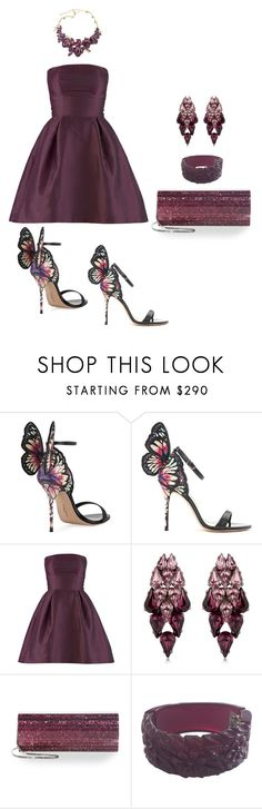 """""""Butterfly Shoes"""" by lovetodrinktea ❤ liked on Polyvore featuring Sophia Webster, Ellen Conde, Jimmy Choo and Oscar de la Renta"""