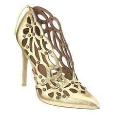"Caged pointy toe pump with 4 1/2"" heel.  This style is available exclusively @ Nine West Stores & ninewest.com."