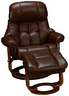 Benchmaster-Nicholas-Benchmaster Nicholas Leather Chair and Storage Ottoman - Jordan's Furniture