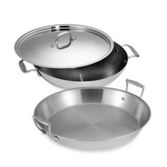 All-Clad Stainless Steel 16-Inch Paella Pan - BedBathandBeyond.com