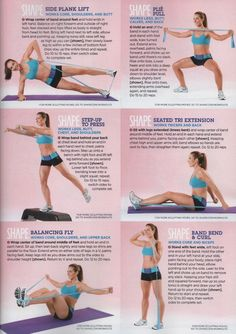Band workout by Shape Magazine Best Exercise Bands, Band Workouts, Ufc, Fitness Tips, Health Fitness, Group Fitness, Resistance Band Exercises, Resistance Tube, Excercise