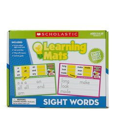 Look what I found on #zulily! Scholastic Teaching Resources Learning Mats: Sight Words Set by Scholastic Teaching Resources #zulilyfinds
