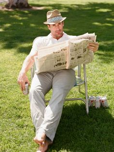 Jon Hamm makes reading look good