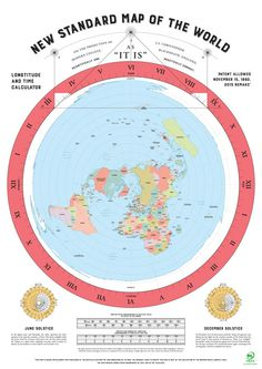 Flat Earth Map 2015 Remake of Gleasons map by FlatEarthPublishing