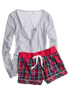 Victoria's Secret Dreamer Flannel Boxer PJ Cute Pajama Sets, Cute Pjs, Cute Pajamas, Vs Pajamas, Loungewear Outfits, Sleepwear & Loungewear, Nightwear, Lingerie Sleepwear, Long Sleeve Pyjamas