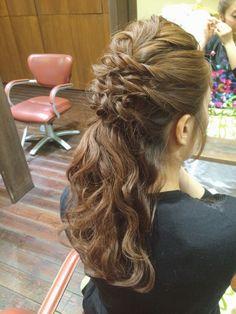 #ヘアアレンジ#ヘアスタイル#ヘアアレンジ解説#ヘアアレンジやり方#ブライダル#ウェディングヘア#結婚式#arannge#hairdo#howto#wedding#bridal  Instagram:@hay_rom