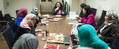 Egyptian women working with EACPE discuss election monitoring