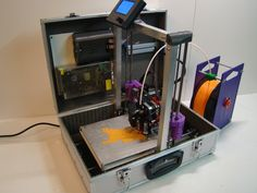 The TeeBot Portable 3D Printer #3dprinting