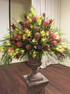 Floral arrangement using native Australian flowers