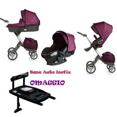 SUPER OFFER: Trio Purple Stokke Xplory Car Seat ISOFIX Base + FREE discount € 1266 instead of € 1428!  Trio Shuttle, Xplory Stroller, car seat and iZiSleep Bag Exchange.  The Stokke ® Xplory ® stroller provides a complete transport solution that adapts to the changing needs of the growing child, is innovative and smart, easy to use and maneuver.  http://www.lachiocciolababy.it/bambino/trio_stokke_xplory_-4411.htm