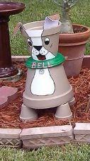 Terra cotta pot crafts dog