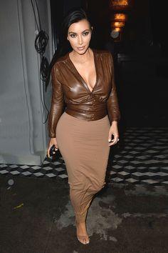 Kim Kardashian leaves dinner at Craig's in Los Angeles on Jan. 26, 2015.   - Cosmopolitan.com