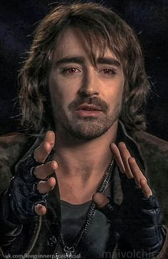 Lee Pace in his Garrett makeup   Screen capture from dvd special features interview for Breaking Dawn 2.