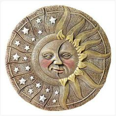 Ceramics Sun and Moon Decorations | Sun Moon & Stars Decorations