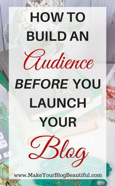 Did you know that you can start building your audience of readers before you even launch your blog? You can! Let me show you how.