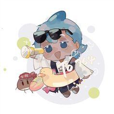 Cookie Run, Cookie Time, Shark Cookies, Strawberry Cookies, Cute Shark, Girl Scout Cookies, Best Fan, Merman, Cute Comics