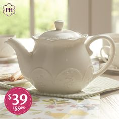 #Teatime or any time, this stylish #stoneware #teapot is the finishing touch to your table.